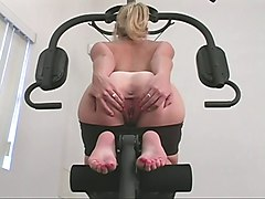 Blond Babe Gym