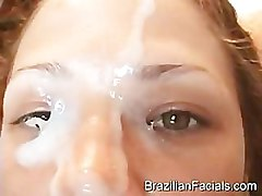 Brazilian girl gets creamed