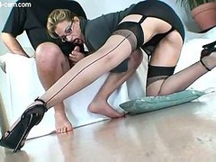 Great Nylon Footjob