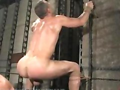 Slave jason endures electro play, flogging, and a hard bondage fuck