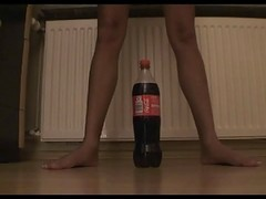 Bottle Stretching Teen Pussy