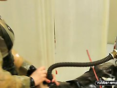 Gas Mask Training - Orgasm Control - Rubber