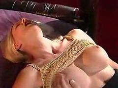 Busty blonde fucking andtit spermed