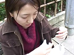 japanese public cum condom spill on face
