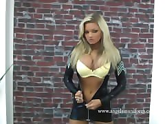 "emma spellar ""blonde in latex rubber uniform"""