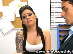 InnocentHigh Tattooed Goth teen Karmen Karma fucked facializ