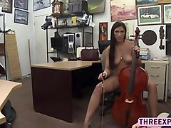 brazilian veronica longing for a dick and gets fucked in the shop