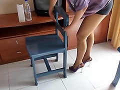 housewife in nylons and high heels