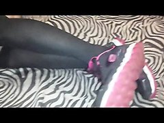 teens tease in nylons and socks