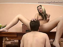 coupledomination - couple make full use of their slave