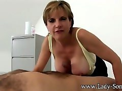 sexy british milf give titjob
