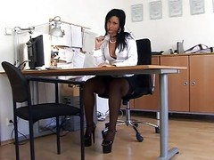 Black Nylon Secretary Sex (thenylonlover)