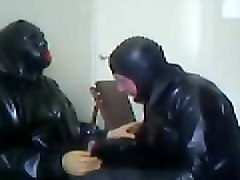 rubber session part 1 with rochdale tony. he is in the chair.