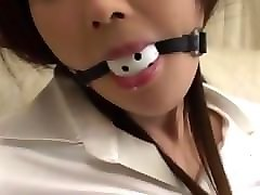 asian ballgagged drooling