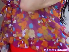 busty latina stepmom in ffm fun with stepteen