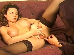 Busty Tranny Fucked By A Costumed Man