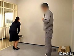 japanese prison officer fucks a handcuffed prisoner