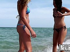 mofos  two perfect beach babes have some fun