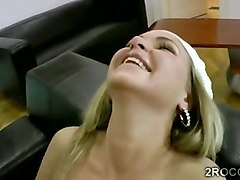 perv tapes blonde amateur playing with a huge dildo
