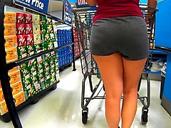 Thick fine mature latina in cotton short shorts