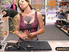 babe sells her tattoo  and pounded by pawn keeper