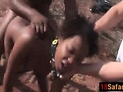african slut love sto get her tight pussy fucked by two guys