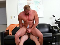 blond twink rides a fat white one eyed snake