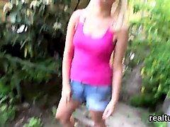 stellar czech cutie was teased in the shopping centre and sh