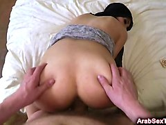 arab gf gets her brains fucked out by big cock