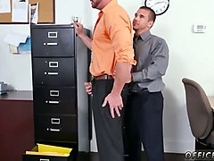 horny straight office workers have gay sex at work