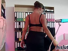 sexy nicole gets rammed in the office