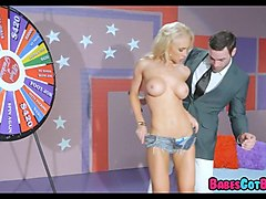 blonde spins the wheel of sex