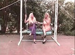 Super Hot Big Boobs Lesbians Having Fun Outdoor