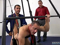 horny office twinks try out their new sex swing after work