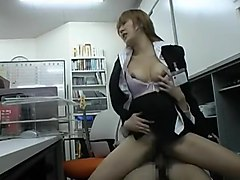 Amazing Japanese model Rika Shibuya, Mao Kaede in Best Office JAV movie