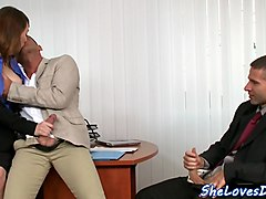 eurobabe dp fucked at the office after hours