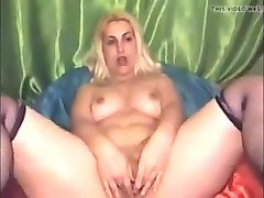 Hermaphrodite plays with cock and pussy