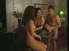 Erica Bella threesome in a bar