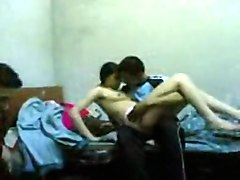 Indian College Lovers Fucking Before Their Friend
