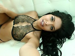Horny pornstar Green Eyes in Fabulous Lingerie, Solo Girl adult clip