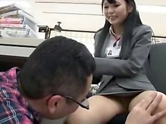 Exotic Japanese whore Aya Eikura, Risa Sanada in Fabulous Public, Office JAV scene