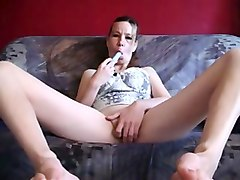 i test my new sex toy spreading legs wide open