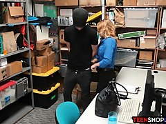 milf lp officer fucks a male shoplifter in her back office