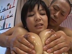Meguru Kosaka Oiled Asian Fuck And Creampie