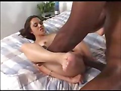 Tight Skinny Teen Takes On A Big Interracial Cock