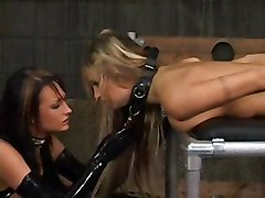 Alektra Blue And Amy Ried Strap On Slave By Tlh