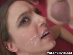 Brunette Housewife Facial