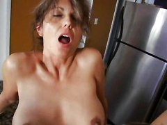 Hot Milf In The Kitchen