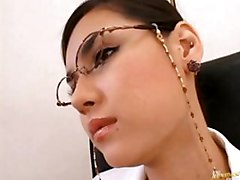 Maria Ozawa Asian Cutie In The Office In Her Fishnets And High Heels