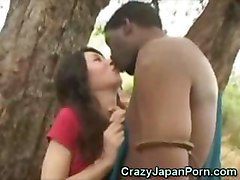 Asian Cutie Sucks An African